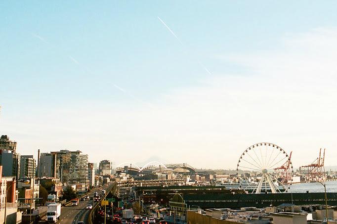 Right by the Ferris wheel in Seattle